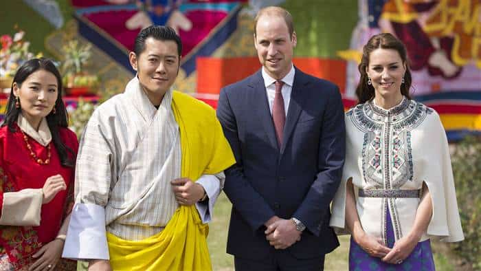 不丹国王黄色围巾