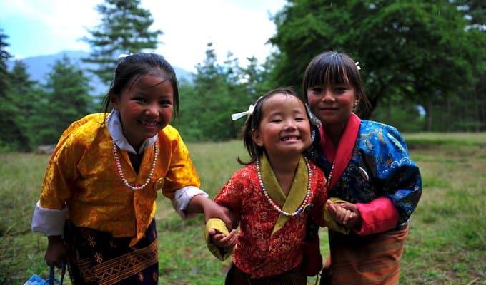 可爱不丹小女孩