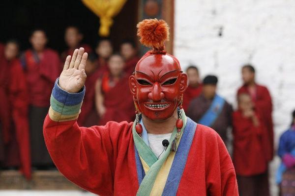 不丹节庆小丑